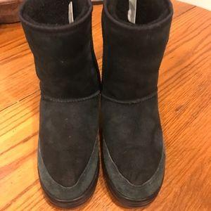 UGG Ultra Short Black Sheepskin Boots